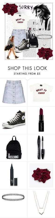 """""""The milestones"""" by pinkyistorie ❤ liked on Polyvore featuring Oris, Topshop, Valfré, Converse, Smashbox, Moschino, Lancôme and Michael Kors"""