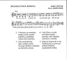 Já a moje rodina 4.5.-7.5. :: Mateřská škola Netolice Kids Songs, Music Notes, Sheet Music, Classroom, Education, Carnavals, Studying, Class Room, Songs For Children
