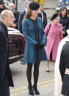 Duchess Kate in teal Malene Birger at the London Underground