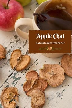 This apple chai spice simmering spice blend is a heavenly natural air freshener that you can make easily at home. Recipes and gift ideas in the guide #sponsored