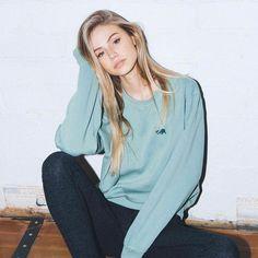 "114.6k Likes, 202 Comments - Brandy Melville (@brandymelvilleusa) on Instagram: ""#brandyusa Erica CA Bear Embroidery Sweatshirt | Jaycee Leggings"""