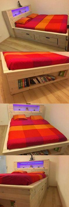 top tip of pallet wood bed idea