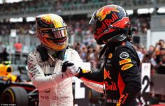 Hamilton finished second to extend his lead in the championship standings and he congratul...
