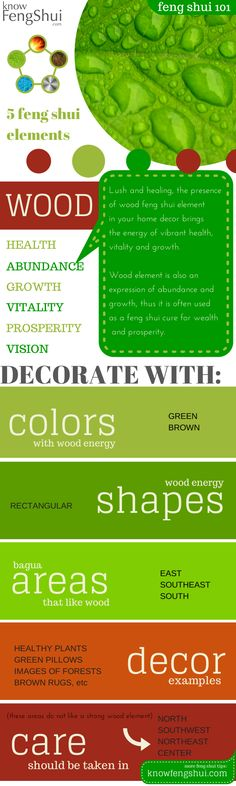 Decorate with Wood Feng Shui Element