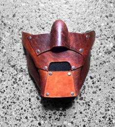 CROIG X Lambourne DOOM Leather Cafe Racer Mask Marvel by CROIGSHOP