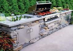 It is understandable kitchen's ambience is really essential to enhance our cooking mood and enliven the room nuance. However, when you feel bored with indoor kitchen style, outdoor kitchen ideas may be a solution to explore more things to do differently. #outdoorkitchen #ideas #diy #onabudget #rustic #outdoor #kitchen #ideas #howtobuild #covered #layout #small #outdoor #kitchen #ideas #pool #patios #awesome #simple #bbq #backyards #cheap #with #fireplace Outdoor Kitchen Kits, Backyard Kitchen, Outdoor Kitchen Design, Small Outdoor Kitchens, Simple Outdoor Kitchen, Small Kitchens, Design Jardin, Garden Design, Backyard Patio Designs