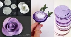 Cómo hacer rosas usando círculos de fieltro, foami o papel - Dale Detalles Paper Flower Tutorial, Paper Flowers Diy, Paper Roses, Handmade Flowers, Flower Crafts, Fabric Flowers, Felt Flowers Patterns, Flower Bouquet Diy, Paper Quilling Designs
