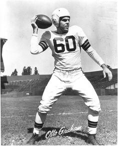 Otto Graham (1921 - 2003) Hall of Fame football player, he quarterbacked the Cleveland Browns to three NFL titles and never missed a game