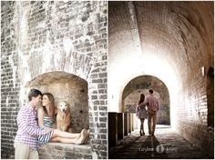 Fort Pickens  |  Pensacola Beach Engagement Portraits  |  Engagement portraits with dogs  |  Golden retrievers  |  Ft. Pickens engagement sessions  |  AISLINN KATE PHOTOGRAPHY