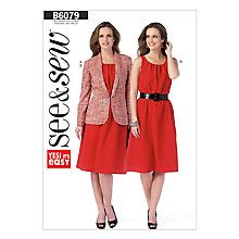 Buy Butterick Women's Jacket & Dress Sewing Pattern Online at johnlewis.com