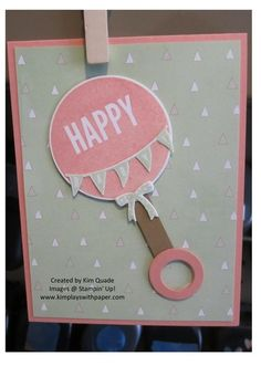 outside the box baby card from the stampin up celebrate today stamp set and balloons framelits