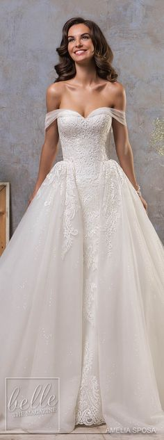 Amelia Sposa Fall 2018 Wedding Dresses #weddingdress #bridalgown #bridal #weddinggown #bridestyle #bridetobe
