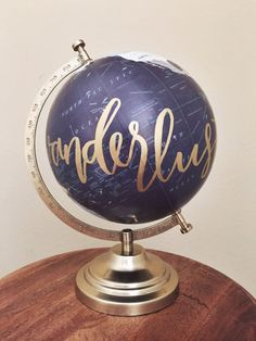 Hey, I found this really awesome Etsy listing at https://www.etsy.com/listing/260911712/hand-painted-calligraphy-globe