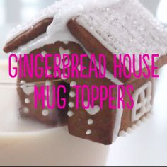 House Mug Toppers This is the cutest take on milk and cookies! Decorate the houses any way you like to add a festive touch to your mugs!This is the cutest take on milk and cookies! Decorate the houses any way you like to add a festive touch to your mugs! Christmas Gingerbread House, Christmas Sweets, Gingerbread Houses, Xmas, Cake Decorating Videos, Cookie Decorating, Holiday Baking, Christmas Baking, Holiday Treats