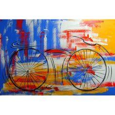 Esportes : BICICLETA/ BIKE SOBRE FUNDO ABSTRATO 80X120 COD 957