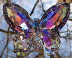 Swarovski Crystal Aurora Borealis Butterfly Figurine Mint | eBay