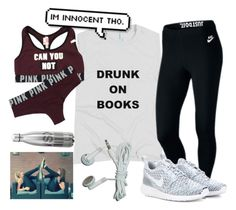 """""""Working out for track"""" by fandombreather ❤ liked on Polyvore featuring NIKE and Victoria's Secret"""