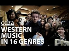 """What a Wonderful World"" - An Abridged History of Western Music in 16 GENRES! This would be great to teach students about stylistic differences.if I were teaching older kids :) Blue Man Group, Glee, Historia Do Rock, Musica Popular, Professor, Middle School Music, School Videos, Music Activities, Elementary Music"