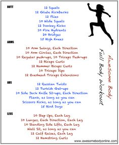 Full body workout: shaping up for warmer weather!