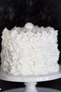 Sparkle A Little Brighter - White Swirl Cake with Black Layers inside by Snickety Snacks