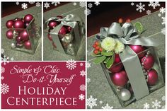 Simple & Chic DIY Holiday Centerpiece