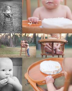 simplistic outdoor cake photo on 1st bday
