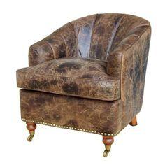 Elegant leather #armchair www.inart.com