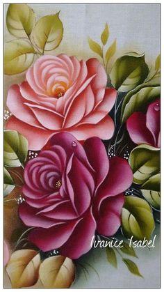 Pintura em Tecido: Dicas, Riscos de Flores + 75 Fotos - Escola de Pintura