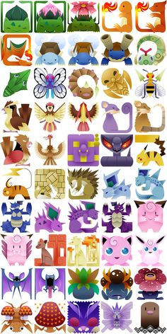 The Original 151 Pokemon, Redone As Monster Hunter Icons | Things for #Geeks #geek