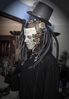 Steampunk costume with a mask!