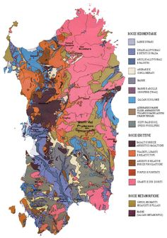 #nabibgeo Carta geologica della Sardegna = Geologic map of Sardinia [Material cartogràfic] / coordinatore: L. Carmignani... [et al.] Firenze : Servizio geologico d'Italia, 2008. Escala 1:250.000. 1 mapa : col. ; 62 x 62 cm., full 75 x 98 cm [DATA: 29/11/2012] Pillars Of Hercules, Sardinia Italy, Mediterranean Sea, Corsica, My Land, Earth Science, Travel Guide, Photo Galleries, Europe