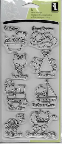 Inkadinkado Brand Clear Acrylic Stamp Set  by CynthiasCraftingNook