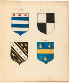 "Manuscript album of ""Coats of Arms of the principal Families in Bedfordshire"" - Price Estimate: $300 - $500"
