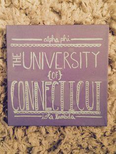 Alpha Phi UConn Big & Little Crafts! UConn Canvas #CraftyPhis #AlphaPhiUConn