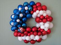 USA FLAG PATRIOTIC Ornament Wreath. $58.00, via Etsy.