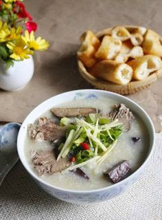 (Cháo Mực Khô) - Do you want to change your boring daily meal? One of my favorite Vietnamese Cuisine  in this weather is Dried Squid Porrid...