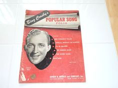 Items similar to Sheet Music - Bing Crosby's Popular Song Folio on Etsy Bing Crosby, Sheet Music, Songs, Popular, Etsy, Vintage, Most Popular, Vintage Comics, Music Sheets