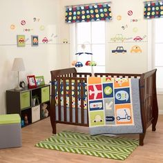 Boy's World 4 Piece Baby Crib Bedding Set with Bumper by Belle is available as part of the Boy's World Baby Crib Bedding by Belle collection. Baby SuperMall can ship most baby bedding and crib bedding accessories to you in 1 - 2 days. Boy Nursery Bedding Sets, Bedding Sets Uk, Crib Sets, Baby Bedding, Baby Boy Rooms, Baby Boy Nurseries, Baby Cribs, Baby Room, Bedding Collections
