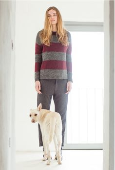 Salice sweater, dark grey prune. Boyfriend pants, iron prune.