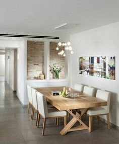 Table and chairs Dining Room contemporary dining room - Modern Dining Elegant Dining Room, Dining Room Design, Dining Room Furniture, Dining Room Table, Dining Rooms, Lamp Table, Furniture Ideas, Furniture Nyc, Furniture Inspiration