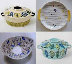Inger Waage norsk keramiker som fra 1953 til 1979 var ansatt som… Vintage Ceramic, Ceramic Art, 80s Design, Stavanger, Kitchen Things, Mid Century Design, Vintage Decor, Designing Women, Color Patterns