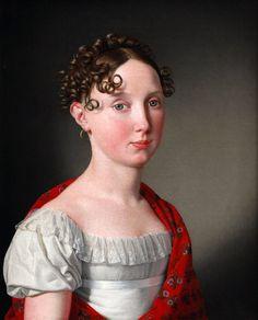 Christoffer Wilhelm Eckersberg (1783-1853): Portrait of Ida Mariane Brockenhuus