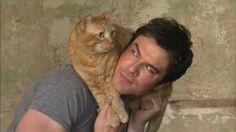 Ian Somerhalder-I like that he's a cat guy.