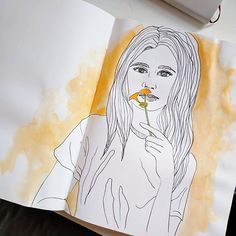 A quick and fun sketch to round out the day. How was your Tuesday? . . #art #sketch #sketchbook #artsy #artist #artistsoninstagram #artstagram #watercolor #ink #lineart #color #yellow #arte #paint #painting #doodle