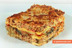 The Recipe for Lasagna with Meat, Cheese and Eggplant | Italian Food Recipes | Genius cook - Healthy Nutrition, Tasty Food, Simple Recipes