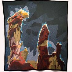 For a while there quilter Jimmy McBride worked on an intergalactic transport ship and made #quilts of the things he saw on his travels. These are the pillars of creation. #mrxstitch via The Mr X Stitch official Instagram  Share your stitchy 'grams with us - @mrxstitch #xstitchersofinstagram #mrxstitch