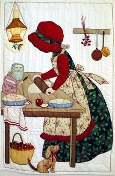 'Christmas Pies' quilt...love this.  Would like this to hang on my wall...I love the color and detail...