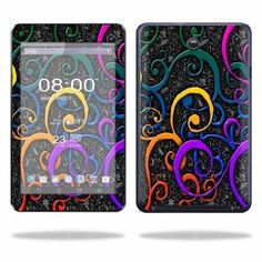 Mightyskins Protective Skin Decal Cover for Asus MeMO Pad HD 7 Tablet wrap sticker skins Color Swirls