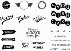 15.00  Retro Style Birthday Sentiments Stamp Set     ***GOES WITH RETRO STYLE GRADUATION STAMPS AND RETRO STYLE DIES***