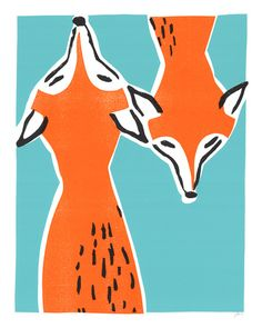 Friendly Foxes Serigraph at AllPosters.com